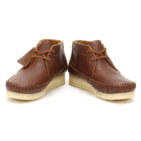 clarks mens boots brown clarks mens brown leather weaver boots lace up casual