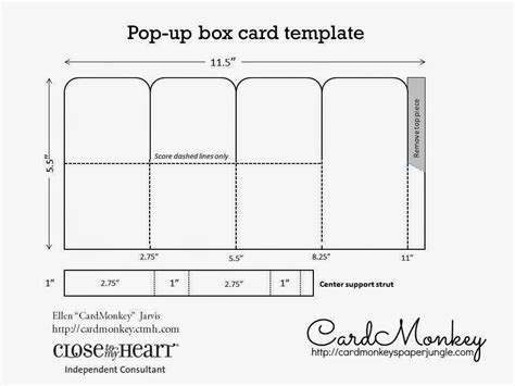 free cards box template cardmonkey s paper jungle create custom pop up cards for