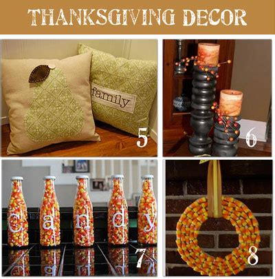 Thanksgiving Handmade Decorations - check out these diy thanksgiving decor ideas we the