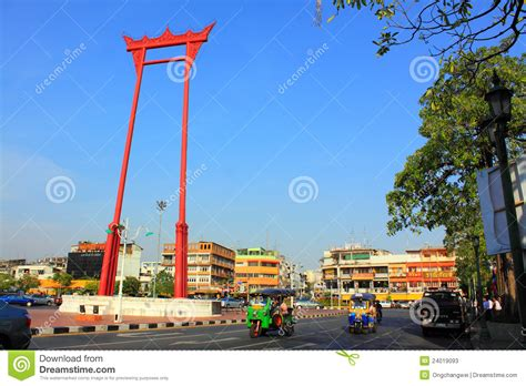 thai swing bangkok landmark giant swing editorial stock photo