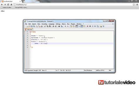tutorial php wordpress tutorial php definirea si executarea variabilelor