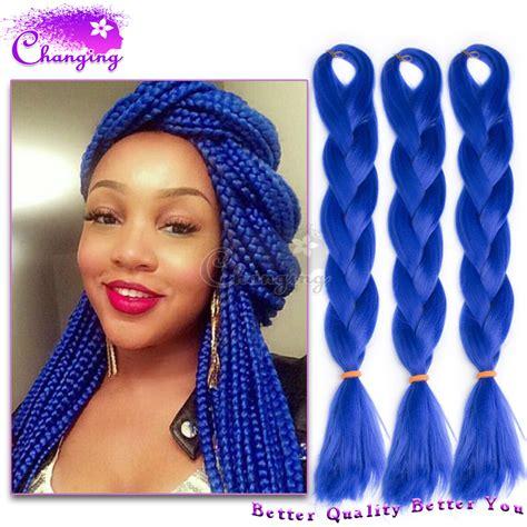 buy blue kanekolin hair buy braid crochet hair cuban havana jumbo twist long 100