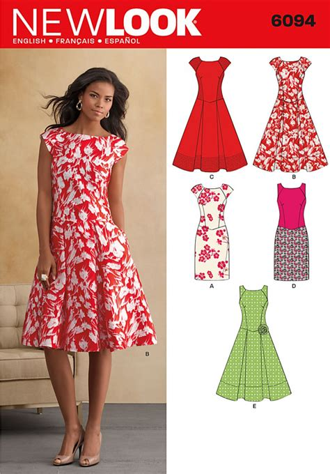 pattern image online new look pattern 6094 misses dresses sewing patterns