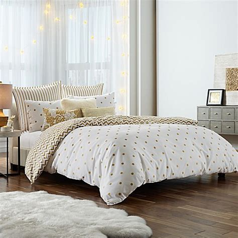 anthology gold glam duvet cover set bed bath beyond