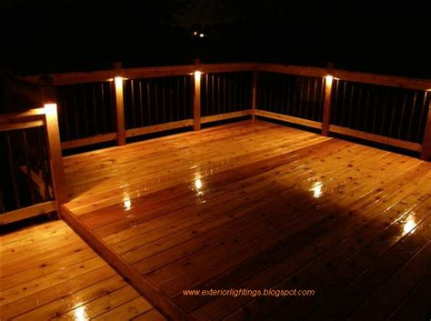 Patio Floor Lighting Exterior Lighting Exterior Lighting For Homes Deck Lighting Ideas