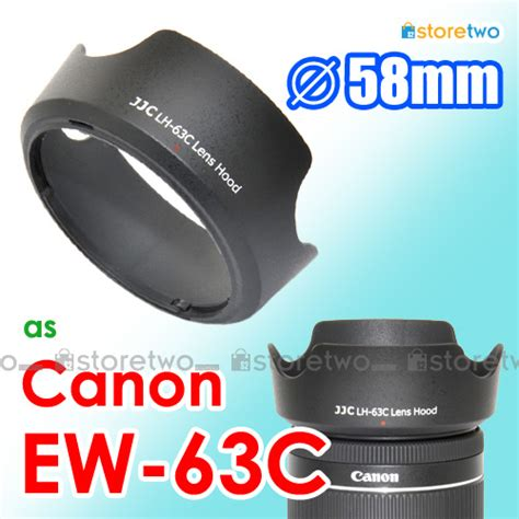 Lenshood Ew 63c For Canon Ef S 18 55mm F 3 5 5 6 Is Stm canon ew 63c jjc 遮光罩 ef s 18 55mm f 3 5 5 6 f 4 5 6 is