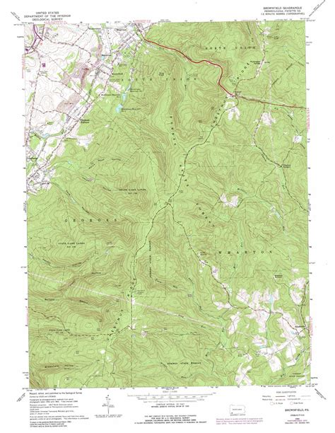 brownfield map brownfield topographic map pa usgs topo 39079g6