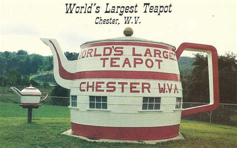 the world biggest virginia world s largest teapot chester west virginia hancock county