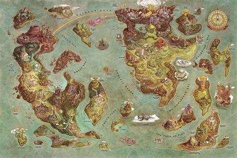 Game Design World Map | videogames world map by edison yan iam8bit