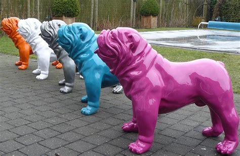 Lackieren Auf Englisch by Statue Lackiert Englische Bulldogge Jardinchic