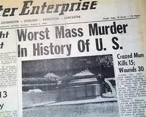 Tx Newspapers Charles Whitman Tower Shootings