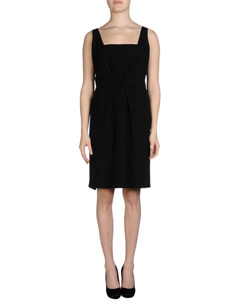Fendi Dress lyst fendi knee length dress in black