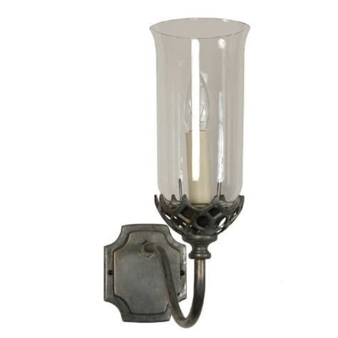 style wall light sconce with clear glass shade