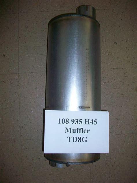 international dresser ih tdg  loader   motor grader  muffler finney