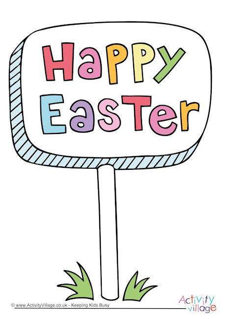 printable happy easter poster happy easter sign