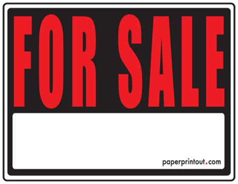 for sale signs free printable for sale sign templates