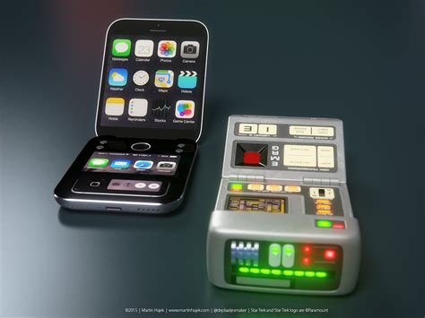 martin hajek redesigns  star trek tricorder