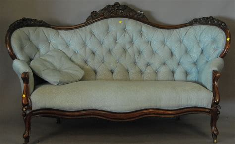 Tufted Leather Settee Victorian Sofa Vintage Victorian Sofa Ebay Thesofa