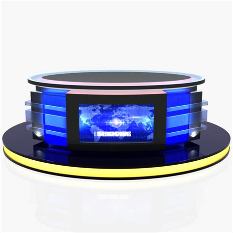 tv studio desk tv studio news desk 12 3d model buy tv studio news desk 12 3d model flatpyramid