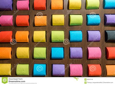 colorful toilet paper concept pattern colorful tissue toilet paper on background