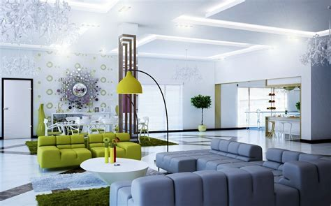 White Green Living Room Interior Design Ideas | modern interior design ideas modern magazin