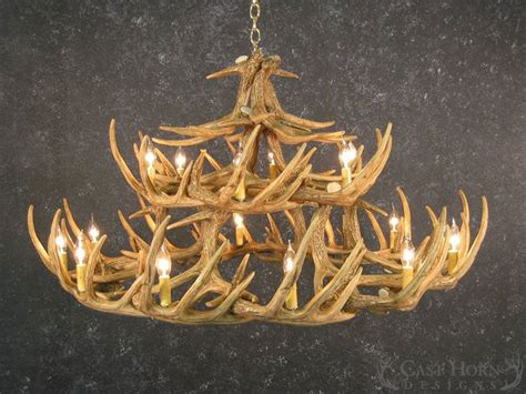 How To Make A Whitetail Deer Antler Chandelier Whitetail Deer 30 Antler Chandelier Cast Horn Designs