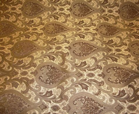 gold upholstery fabric 56 quot wide monte cristo pecan damask chenille fabric with