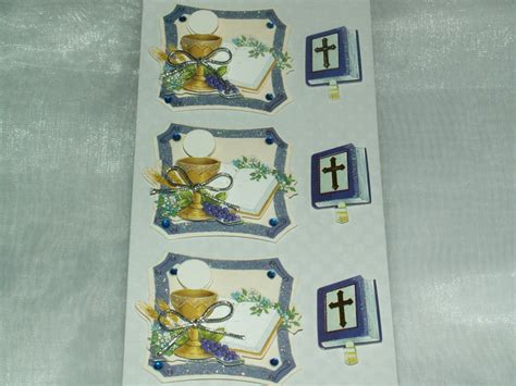 3d Sticker Kommunion by 3d Sticker Kartengestaltung Kommunion Kelch Bibel Die