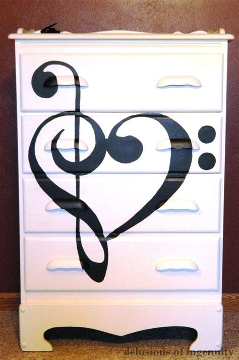 music themed furniture dressers before after and music on pinterest