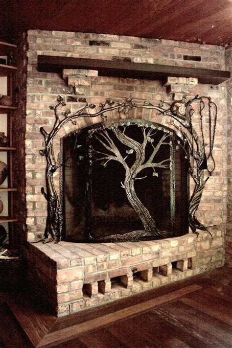 made fireplace screens by earth eagle forge llc