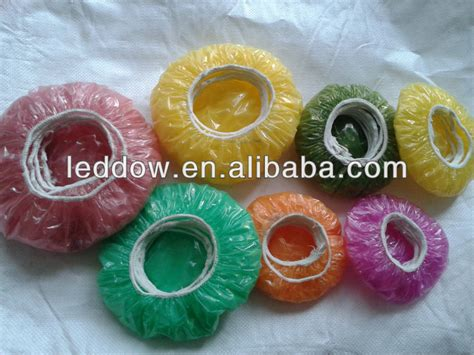 Plastic Food Cover colored fitted bowl cover disposable ldpe bowl cover clear