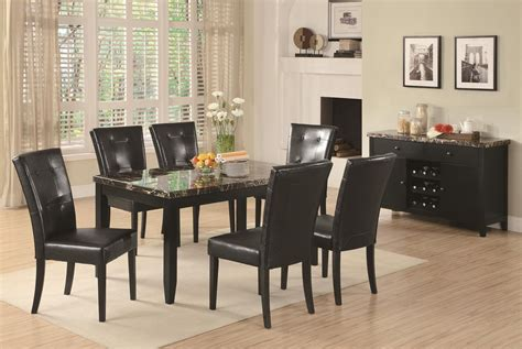 coaster 102791 black marble dining table a sofa