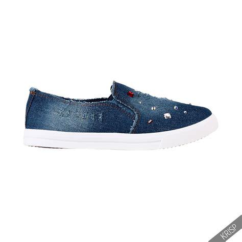 Flat Shoes Denim Wanita womens slip on creepers flats denim trainers pumps plimsolls flat shoes ebay