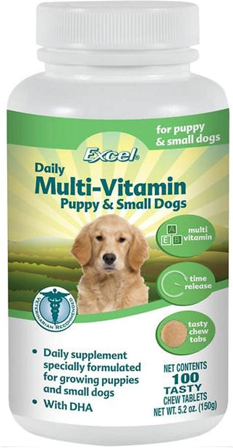 puppy vitamins 8in1 excel puppy small multi vitamin tabs supplement 100 count chewy