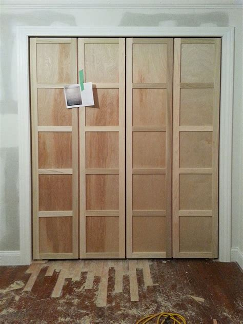 Adding Trim To Bifold Closet Doors - fancy up some bifold doors by adding trim strips gibson