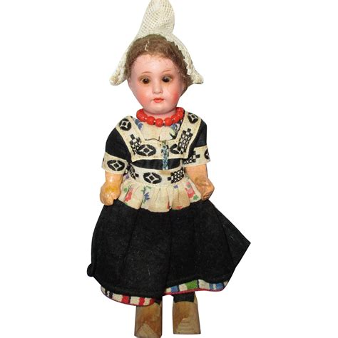 bisque doll painted vintage painted bisque german doll in original
