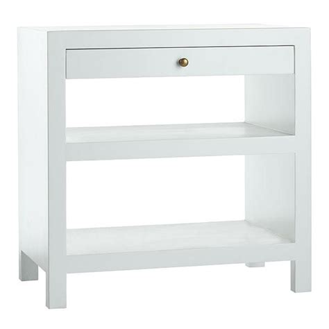 white bedroom side tables white matte lacquer single drawer side table
