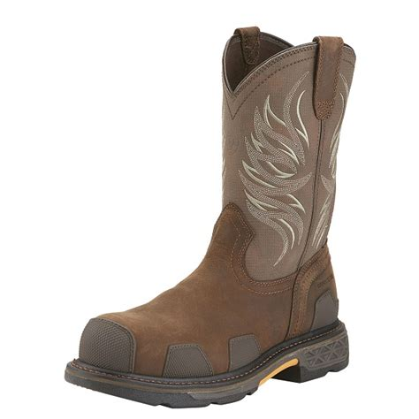 ariat overdrive work boots ariat overdrive pull on composite toe work boot 10015395