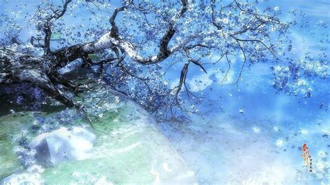 anime girl scenery wallpaper anime winter scenery wallpaper download free anime