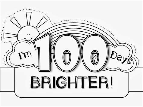 100th day hat template 100th day hat freebie 100 days smarter
