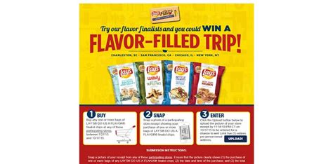 Frito Lay Sweepstakes 2015 - laysflavorfilledtrip com lay s flavor filled trip sweepstakes