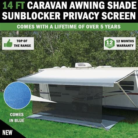 caravan sun shade awnings 14 ft caravan awning shade sun blocker privacy screen suit fits all