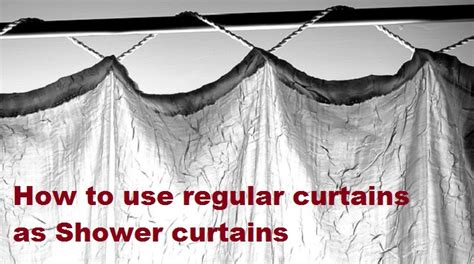 regular curtains as shower curtains can you use regular curtains as shower curtains linens n
