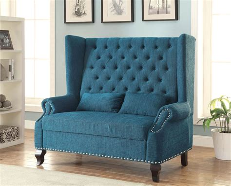 accent loveseat teal fabric accent loveseat chair caravana furniture