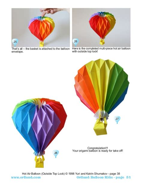 origami air balloon www imgkid