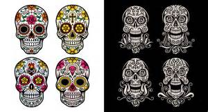 day of dead skull template day of the dead skull vector on graphicriver
