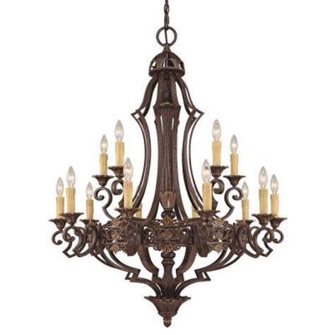 Candle Covers Chandelier Illumine 15 Light Florencian Bronze Chandelier With