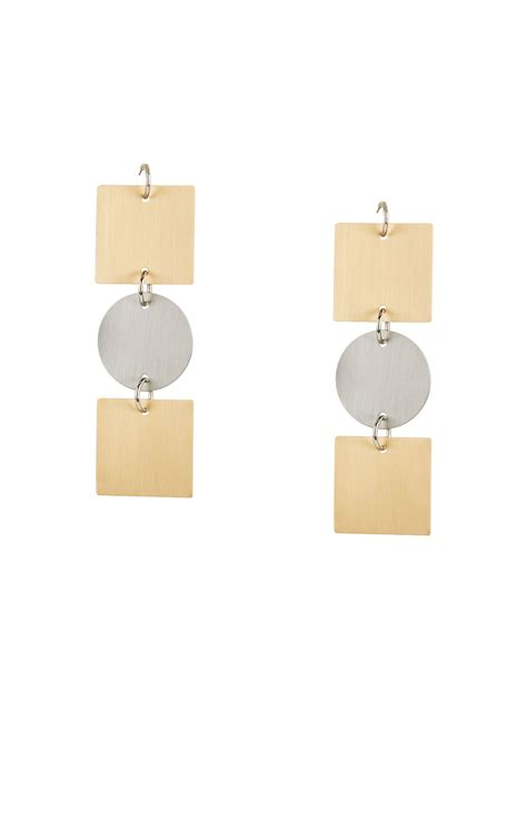 Plate Earrings geometric plate earrings