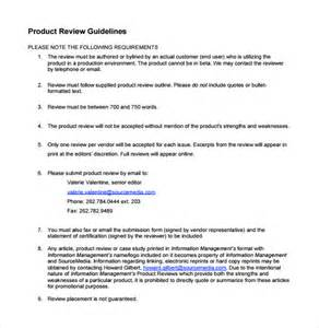 product review template product review template 7 documents in pdf