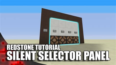 Redstone L Tutorial by Minecraft Silent Button Selector Panel Flush Seamless